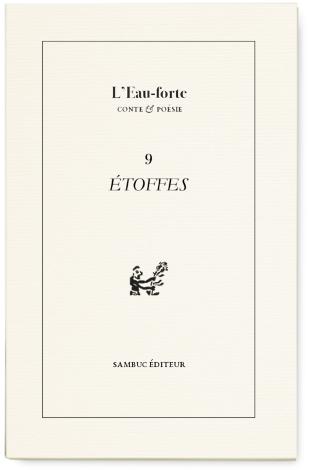 Photo : L'Eau-forte n°9. Étoffes (couverture)
